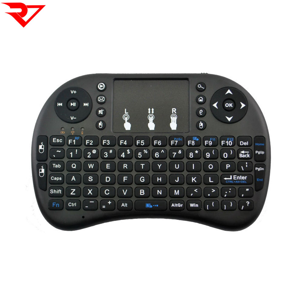 UKB-500-RF 2.4GHz Mini Wireless Keyboard Mouse Combo with Touchpad /& USB Receiver English Keyboard//Russian Keyboard Durable Color : Black White