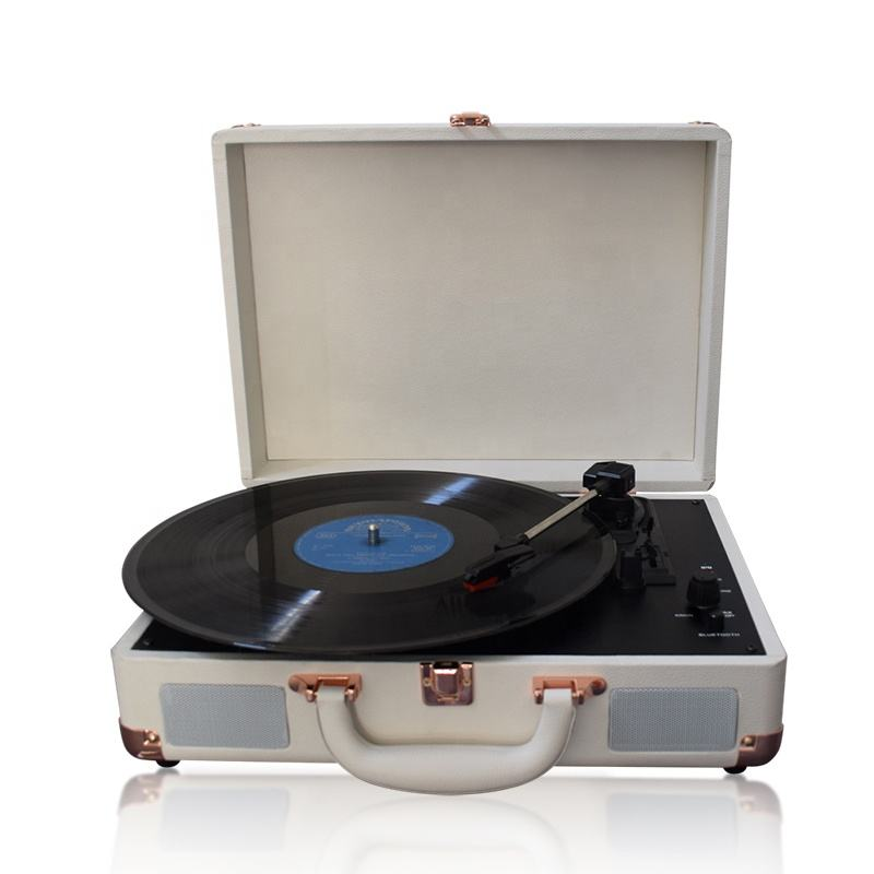 2018 Best 휴대용 briefcase audio turntable LP player