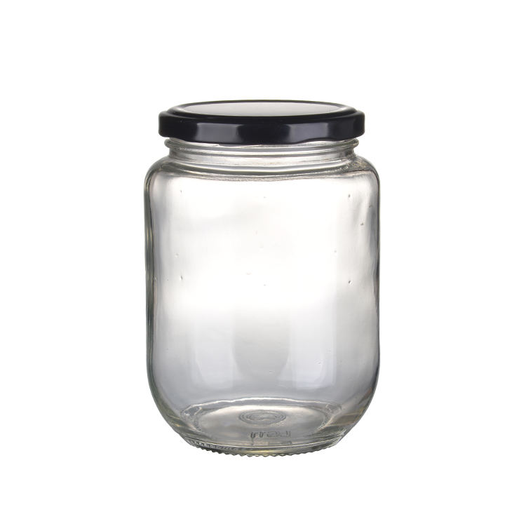 Wholesale cheap food straight side storage jar glass jam bottles with cap