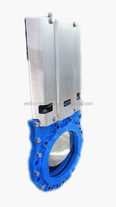 Non rising stem knife gate valve