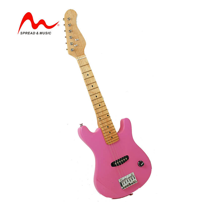 Wholesale custom electric guitar lovely pink color electric guitar