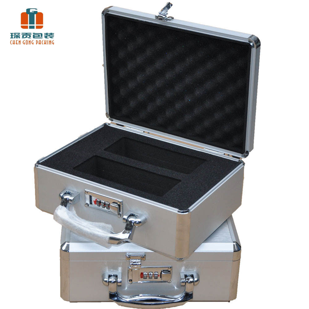 CG portable box hard metal briefcases carrying aluminum flight case camera cases