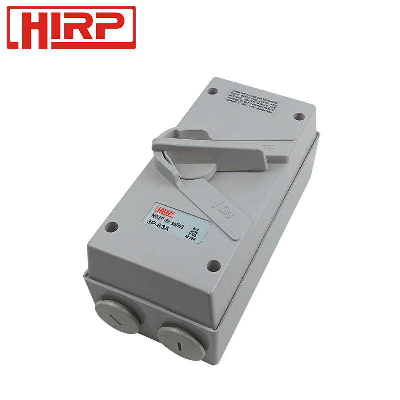 IP65 1P 2P 3P 4P 20A 32A 40A 63A Waterproof Enclosed Isolator Switch Outdoor Use