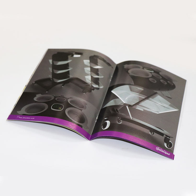China high quality full color softcover 4 pages a4 a5 cheap brochure booklet printing