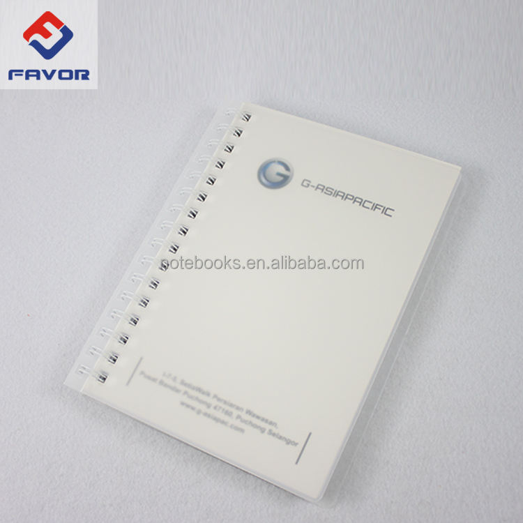 china price glitter transparent pp cover spiral notebook with diecut