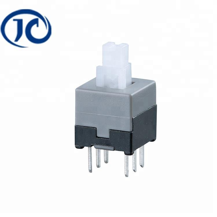 JC-KFT-8.5 Serie 12 V productos duraderos de bloqueo/desbloqueo interruptor impermeable interruptor de <span class=keywords><strong>botón</strong></span> de empuje