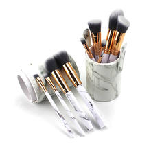 China Factory Marbling Makeup Brushes Kit 10pcs classic marble Nylon Brush Makeup Brush set