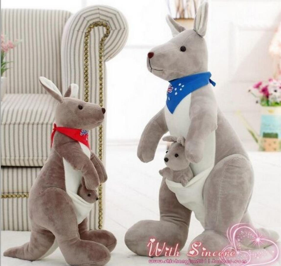Special wholesale parent-child gift supply Australian kangaroo doll mother and child stuffed kangaroo plush toy doll toys
