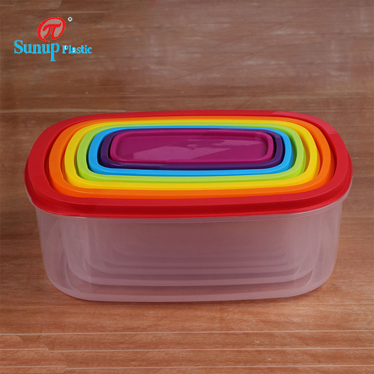 OEM Safe Microwavable BPA Free Square Container Airtight Plastic Crisper for Food