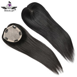 Factory Wholesale Price Virgin Human Hair Women Toupee/Topper wigs Silk Base Lace Closure With Clip In