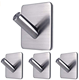 Adhesive Self Stick Towel Robe Key Hooks Heavy Duty Coat Hooks Stainless Steel Sticky Wall Hooks for Home