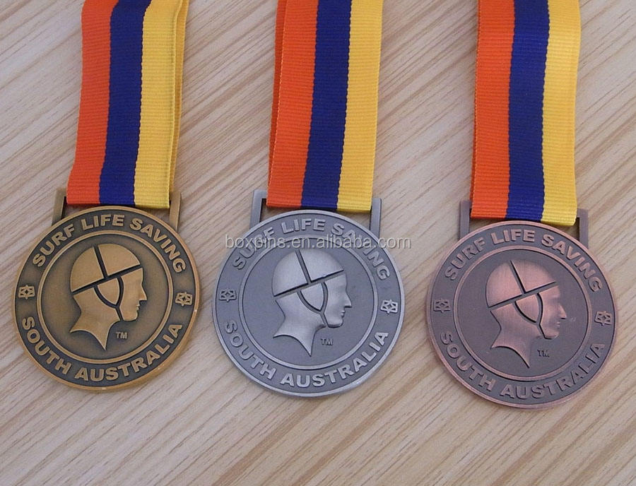 all embossed vintage surf life saving medal medallion souvenir