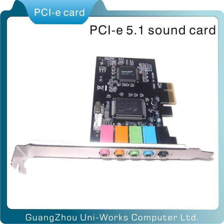built-in PCI Express Sound Card, 6 channel CMI8738 PCI sound cards