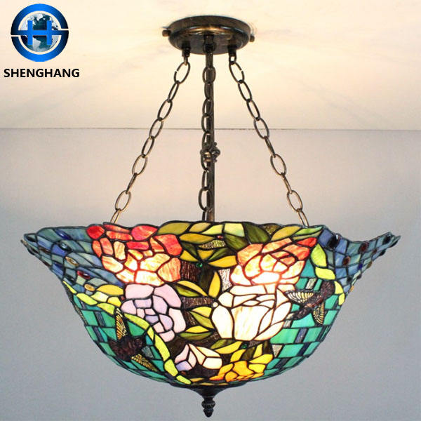 Antique Tiffany Chandeliers Hanging Glass Ball Lamp tiffany style hot product pendent light
