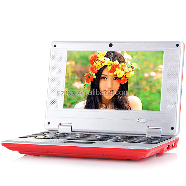 NEW 7 inch mini laptop netbook via 8880 Android 4.2 Flash Player 11.1 RAM 1GB/ROM 4GB HDD WIFI SD Card Slot