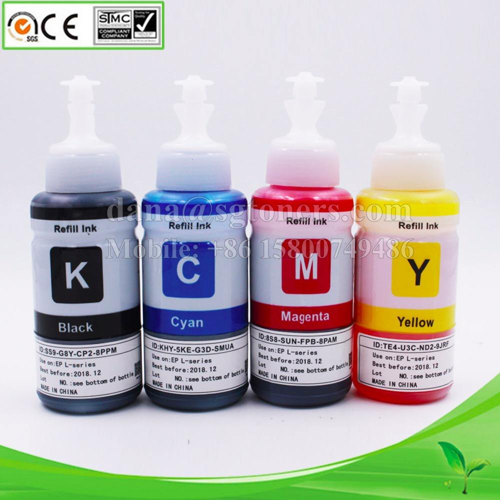 70ml Bottle Refill Ink for Epson L 110 200 210 300 350 355 550 555 800 L Series Dye Ink