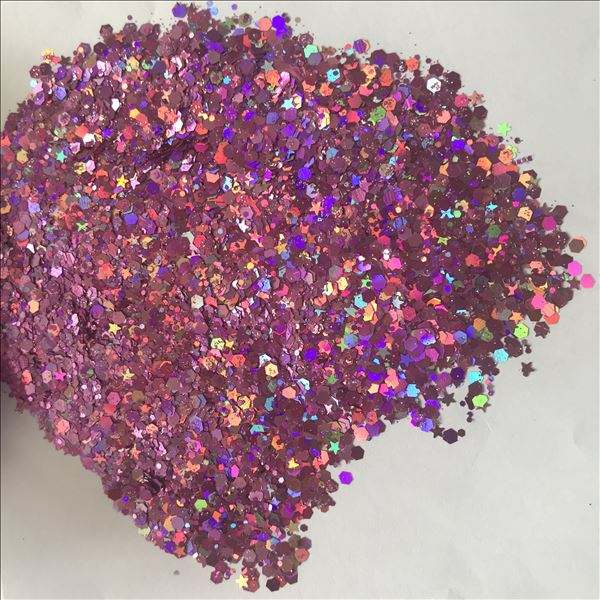 2018 new products Top quality mixed Assorted Colors nail art shiny chunky glitter