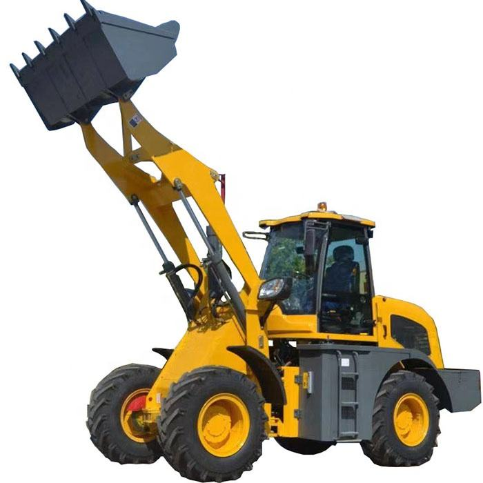 Brand New Mini Front Loader EPA Tier 4 Engine For Option 0.3m3 Bucket with Teeth 4 Wheel Drive 0.8t Mini Front Wheel Loader for