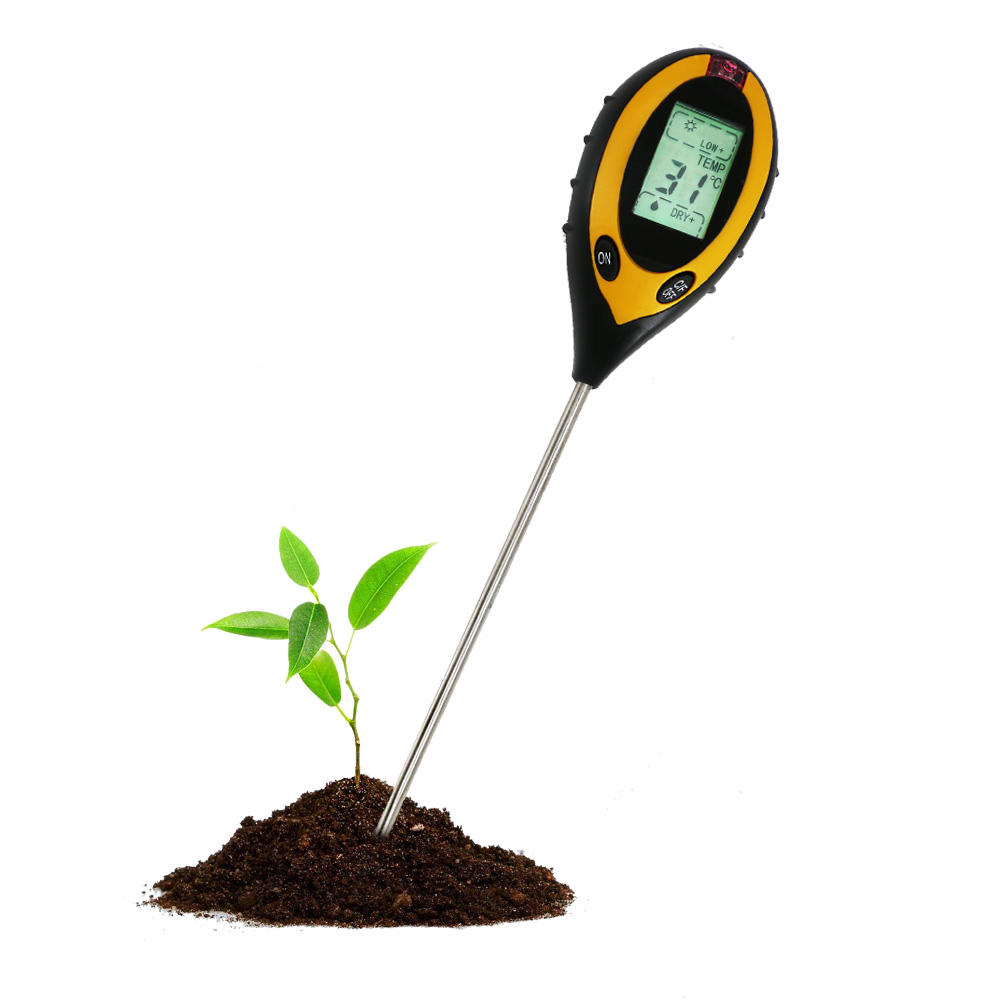 Soil Test Instruments PH Digital Thermometer with Green Backlight Long Probe High Precision Instant Read Thermometer