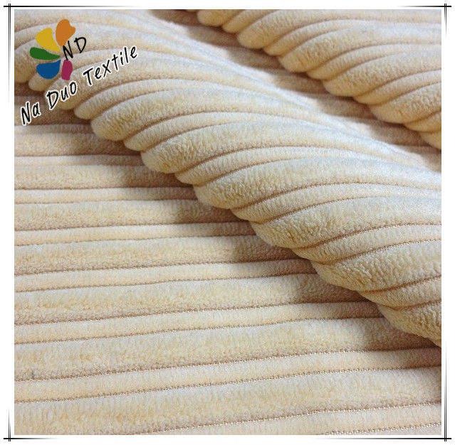 100% polyerster de pana tela para el sofá o cojines