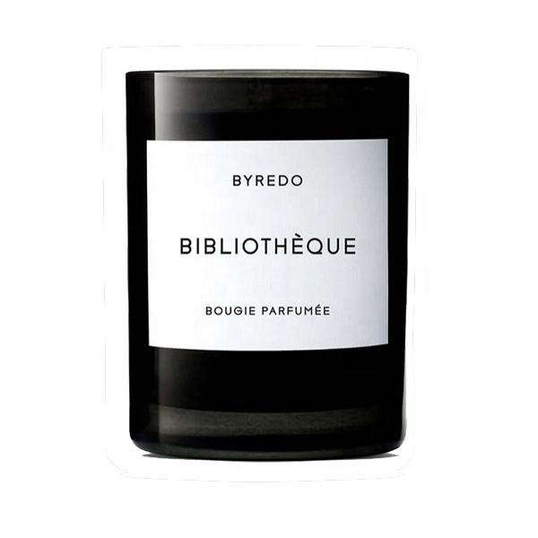 BYREDO Black Multi Colorful Apple Scented Soy Candles Bulk Private Label Vegetable Soy Blend Wax Lead Free Cotton Wick