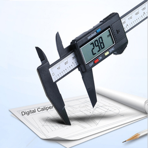 0-6 Inch electronic black color digital vernier caliper 0-100-150mm range digital caliper price with clear LCD screen display