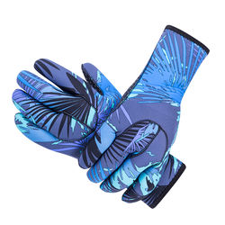SBART new arrival 3mm neoprene sublimation print adults swimming gloves camo diving gloves