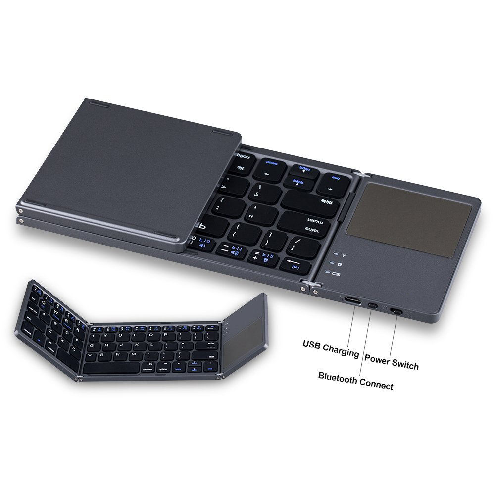 foldable slim portable mini bluetooth wireless keyboard with mouse touchpad for xiaomi tv box
