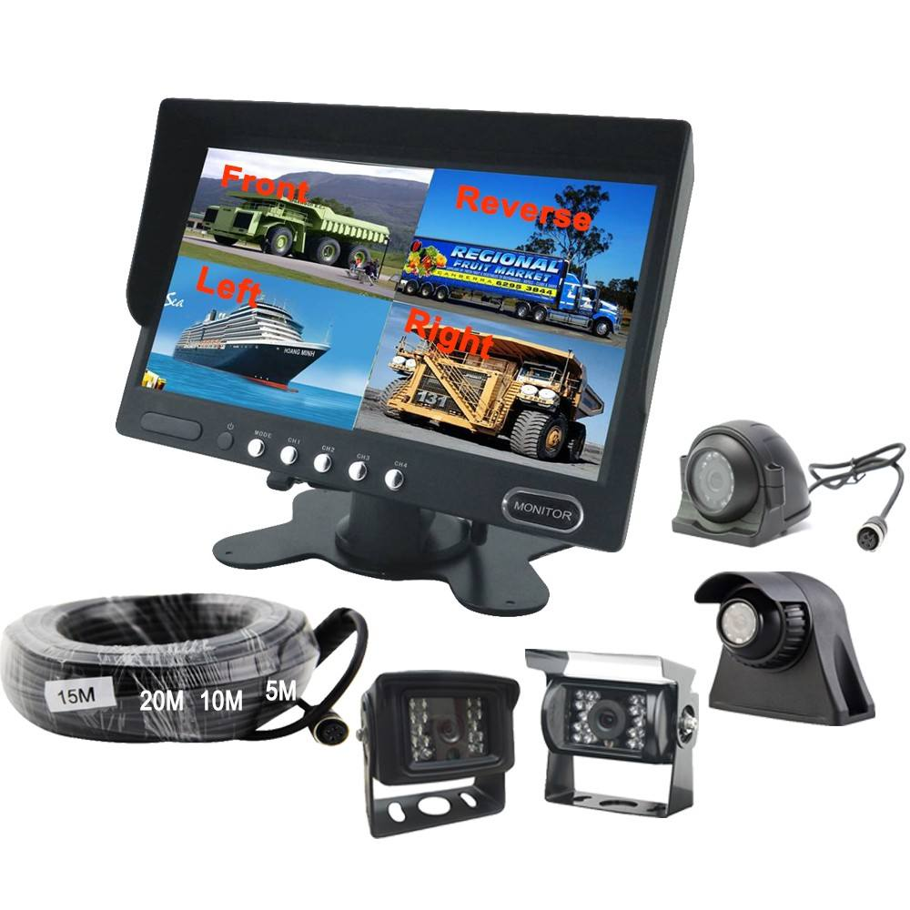 7 Inch LCD Monitor IP69K Track 24V Bus/Trailer/Tow Pickup Lkw Kamera System