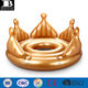 heavy duty vinyl giant inflatable royal crown island pool party float
