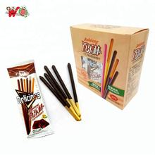 Food grade biscuit coated chocolate sticks for kids