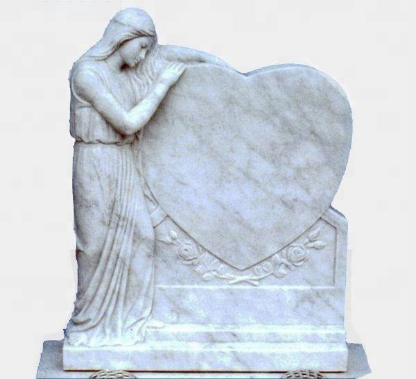 Customized Angel Headstone Designs American Design Marble Tombstone Hand Carved White Marble Headstone