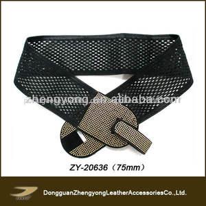 2013 moda feminina perfurado cinto elástico na cintura