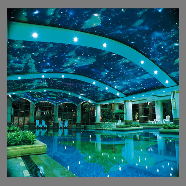 building swimming pool buy pvc infinity ceiling film cost