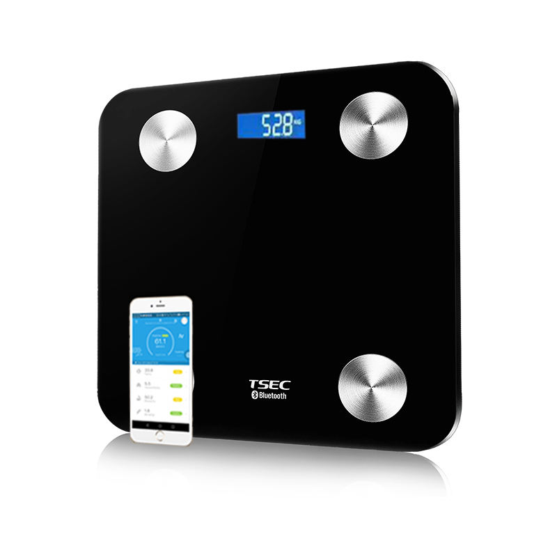 Most popular weighing fat body monitor machine smart bluetooth scale with IOS and Android APP