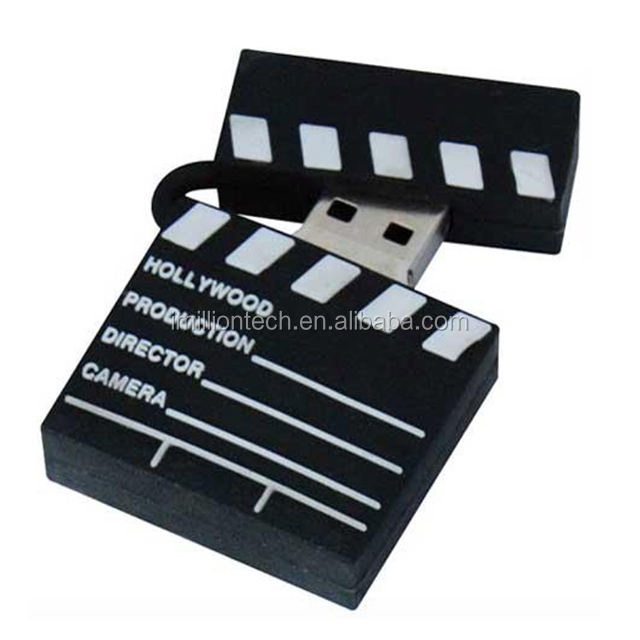 Clapper board movie <span class=keywords><strong>slate</strong></span> <span class=keywords><strong>usb</strong></span> bastone