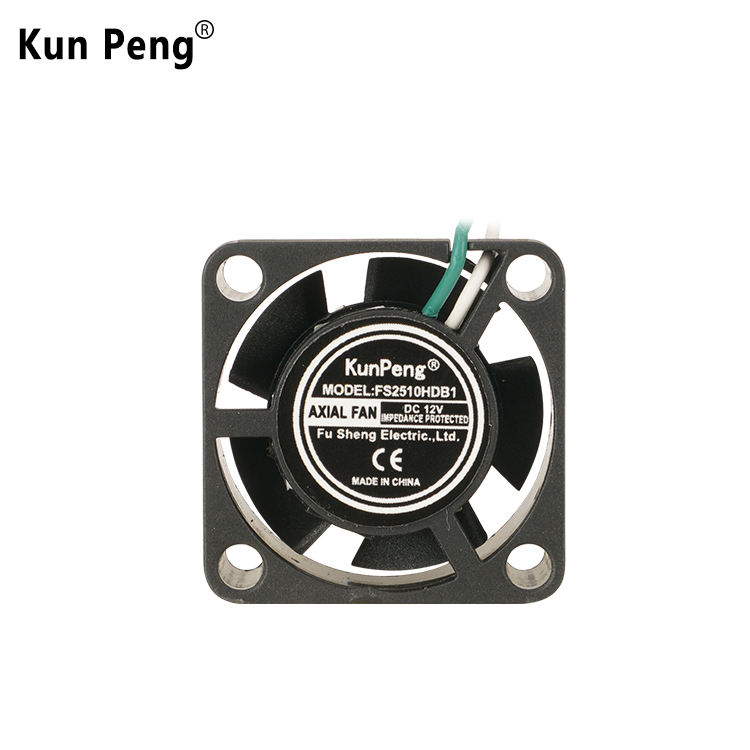 Standard FuSheng 2510 25x25 25mm DC Fan Cooling Mini Exhaust Ventilation 12V DC Brushless Fan 25x25x10 mm (FS2510)
