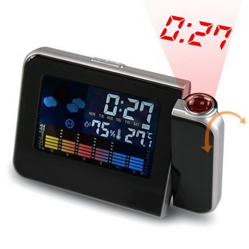 Digital Room Thermometer Large Display LED OEM Projector Alarm Clock Weather Station