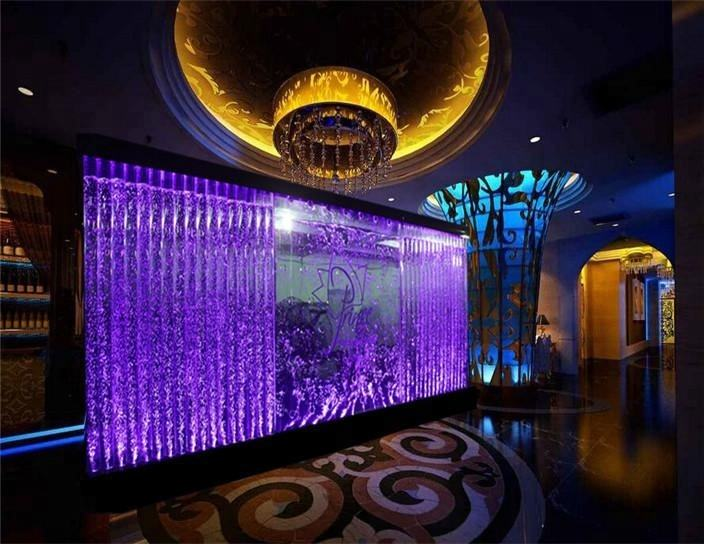 Customized water features china bubble wall decorative room divider