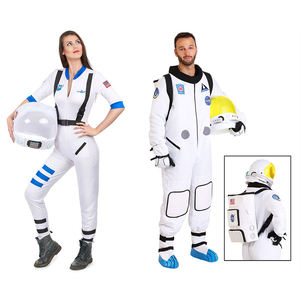 Halloween carnival party fancy dress cosplay adult man spaceman outfit astronaut costume for woman cosmonaut jumpsuit