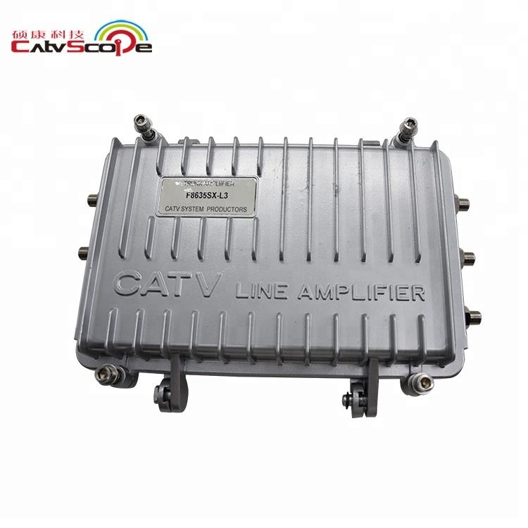 trunk CATV Drop Amplifier L Type Power Doubler module indoor outdoor