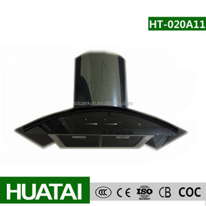 2015 curved black color glass chimney cooker hoods cooker hood curved glass range hood