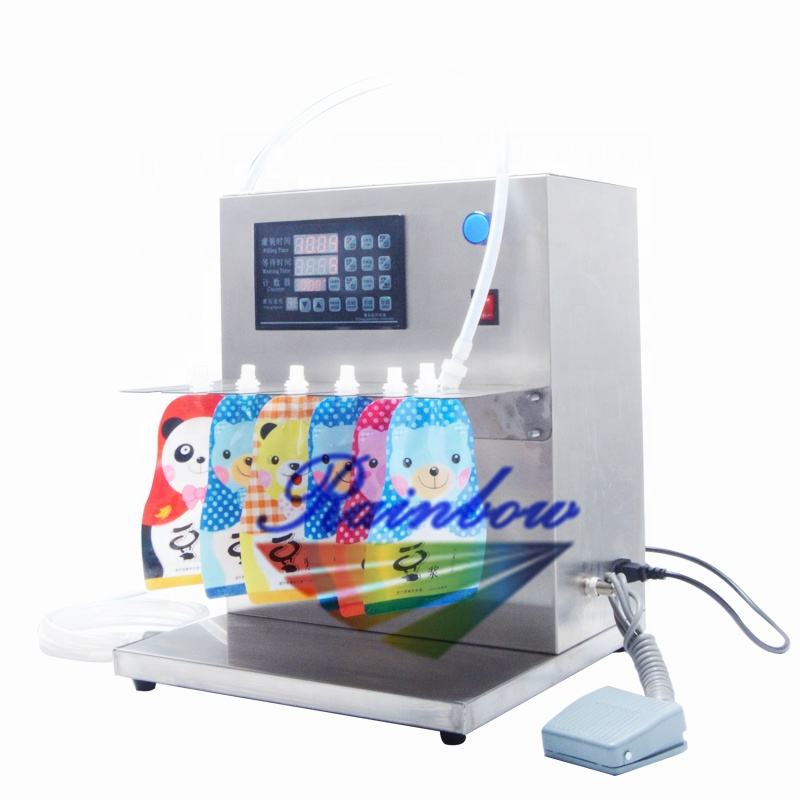Tabletop high accuracy small spout bag filling machine
