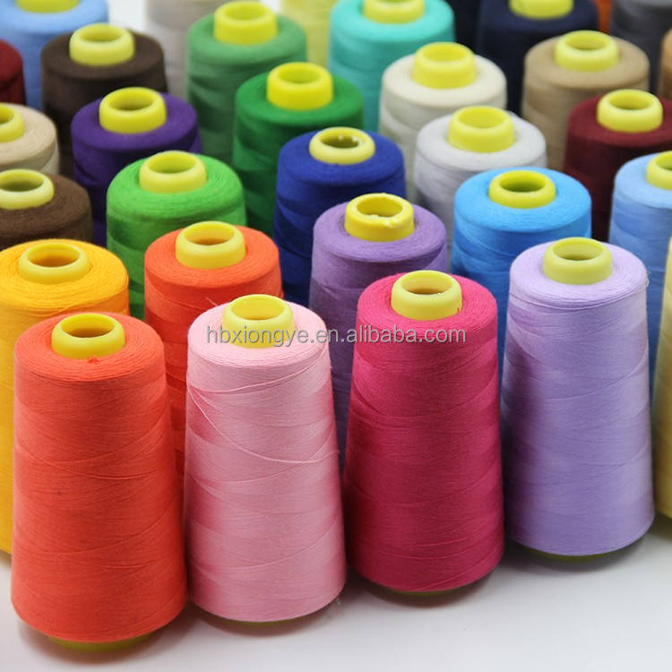 100% Dyed Polyester Spun Sewing Thread with high quality