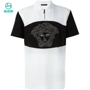 JHM Men Polo Shirt With Custom Logo 100% Cotton Unisex , Custom Polo Shirt Printing