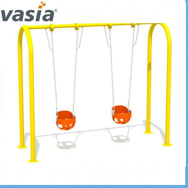 Wholesale cheap children plastic outdoor playground garden swing chair swing for kids