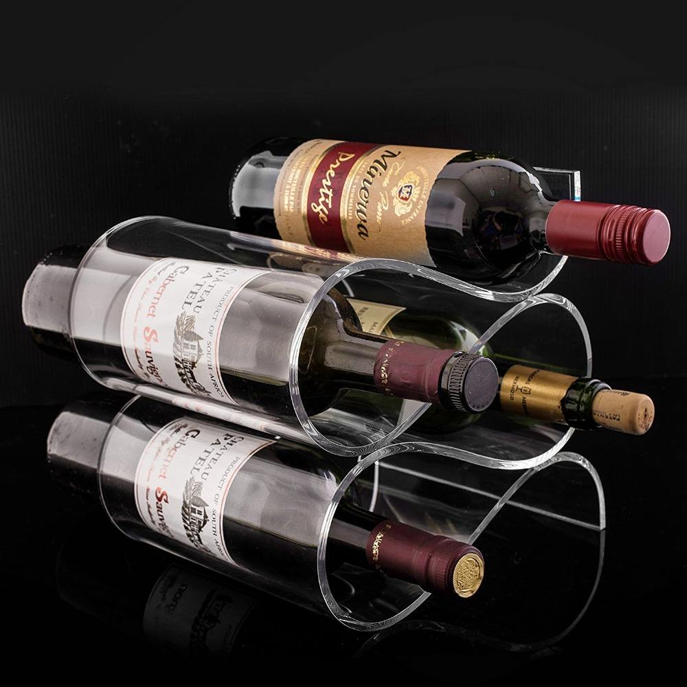 Good Quality Wave Stackable Acrylic Wine Rack Holder Hot Selling Cheap Wine Display With Best Price
