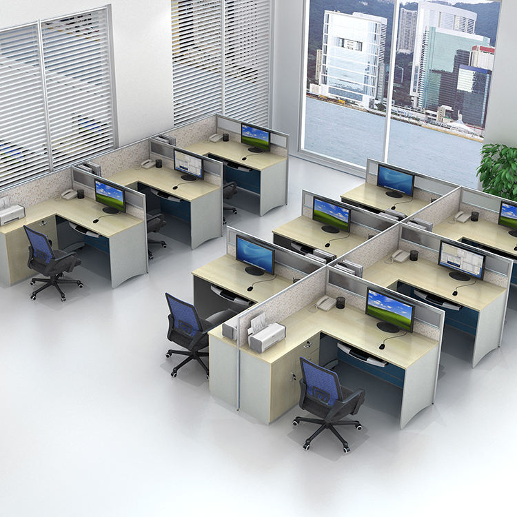 Gcon factory OEM person aluminum partition office cubicle workstation/office furniture