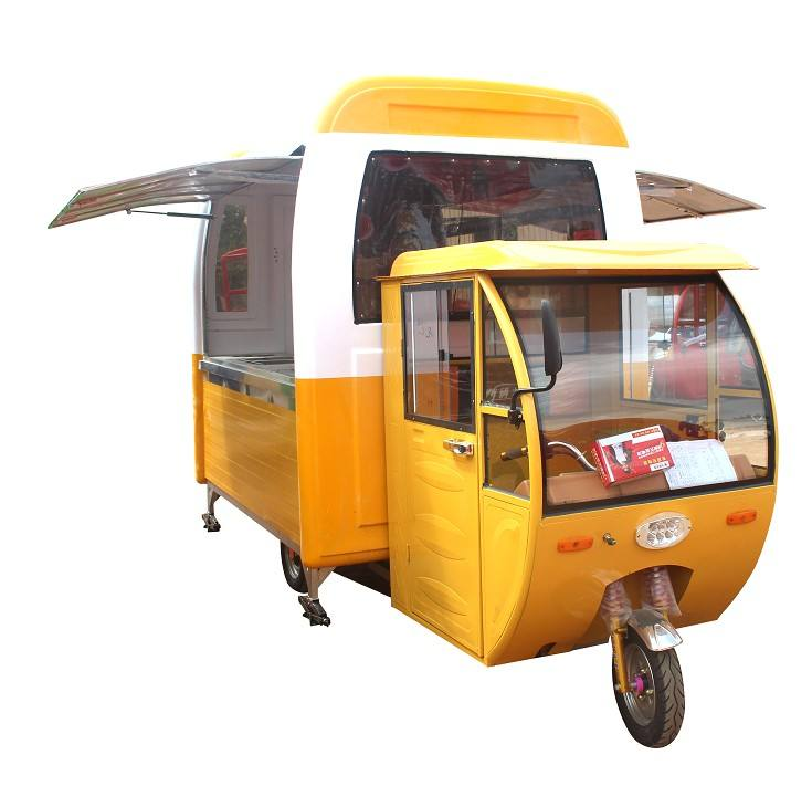 Hot dog tricycle food cart for sale/motorcycle mobile fryer food cart with three wheeled
