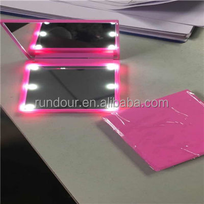 high quality Fold Adjustable Led Lighted Makeup Mirror Compact Mirror,leds makeup mirror